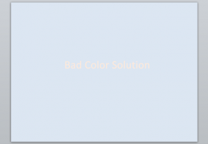 Bad Color Solution